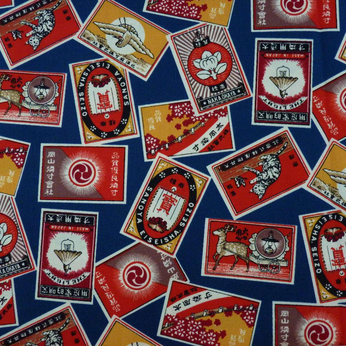 Tissu japonais style rétro