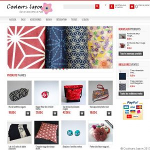 Un nouveau look pour la boutique internet de Couleurs Japon