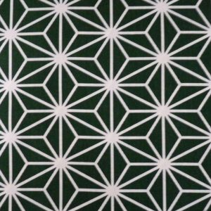 Tissu grand asanoha vert foncé