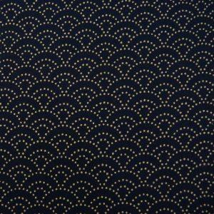 Tissu japonais petites vagues seigaiha