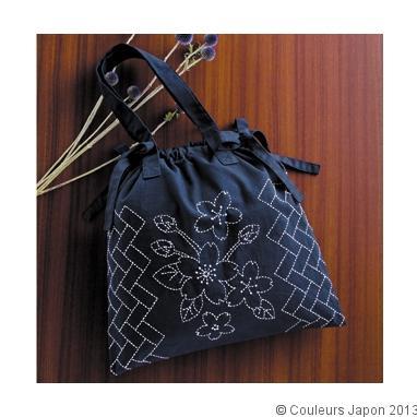 Petit sac en sashiko