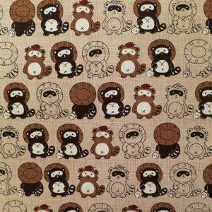 Tissu avec motif de tanuki