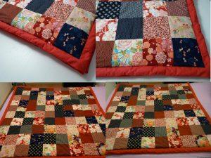 Plaid en patchwork de tissus japonais