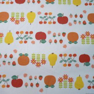 Tissu japonais coloré motifs de fruits