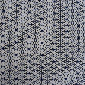 Tissu japonais motifs étoiles asanoha