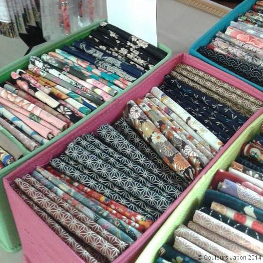 Le plein de coupons de tissus japonais