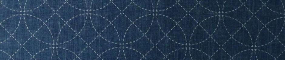 Toile sashiko pré-imprimée shippo et lignes