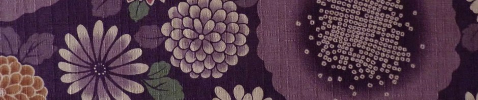 Tissu coton dobby grosses fleurs violet