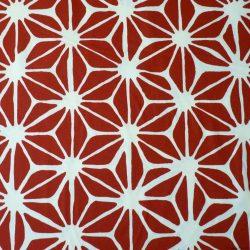 Tissu grand asanoha rouge