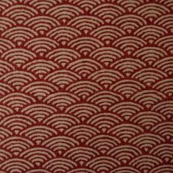 La version rouge du tissu moyen vagues seigaiha déjà disponible en bleu