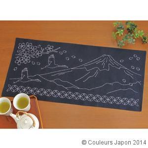 Kit centre de table Mont Fuji, grues et fleurs de cerisier