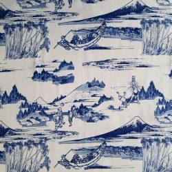Tissu japonais en coton avec motifs d'estampes de Hokusai
