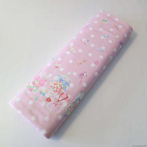 Tissu sweet lolita rose avec motifs de bonbons
