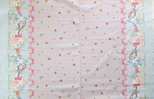 Tissu sweet lolita avec bandes dans le sens de la longueur
