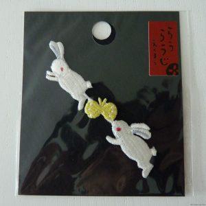 Broderie thermocollante avec motifs de lapins