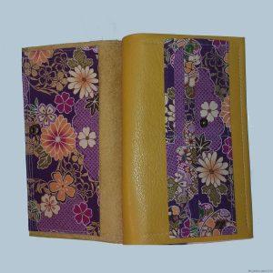 Portefeuille en cuir et tissu japonais de Arts Stef