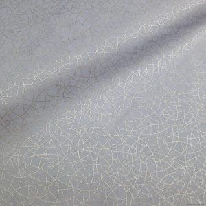 Tissu gris motifs géométriques d'arcs de cercle (pour Noël ou autres)