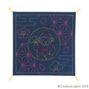 Coupon pré-imprimé pour le sashiko motif de singe
