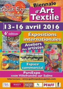 Affiche du salon Quilt Expo en Beaujolais 2016