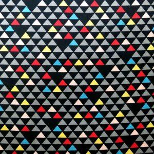 Tissu triangles uroko fond noir