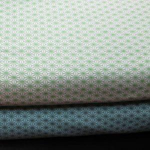 2 variations de tissus motifs asnaoha avec du vert