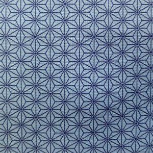 Motifs asanoha bleu marine sur fond bleu cobalt