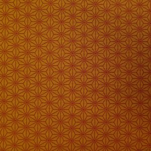 Tissu motifs asanoha orange foncé sur orange clair