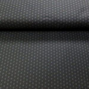 Motifs asanoha gris sur fond noir