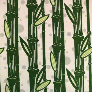 Tissu à motifs de bambous verts