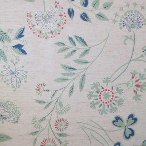 Tissu à motifs de plantes