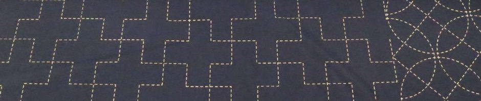 Toile sashiko pré-imprimée 3 motifs
