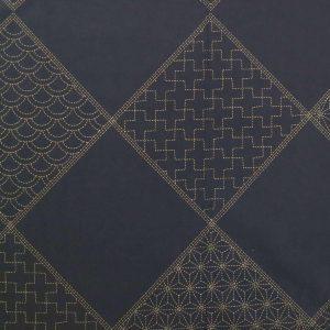 Toile sashiko motifs pré-imprimés dans des losanges