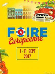 Affiche la la Foire Européenne 2017